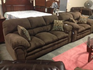 Knit Umber Sofa & Love Seat - $899