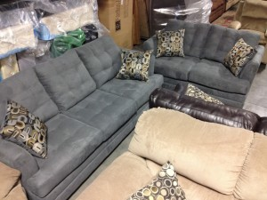 Grey Modern Sofa & Love Seat - $999