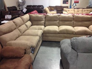 Simmons Latte Microfiber Sectional - $799