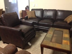 Steve Silver Caldwell TG Leather Sofa & Chair