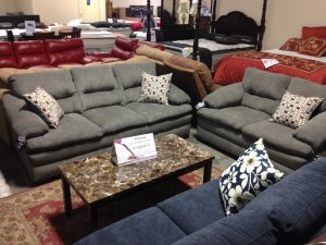 Designer Grey Sofa & Love - $1,099