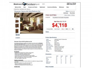 Bedroom Liquidation Slide 845