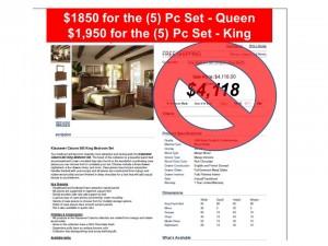 Bedroom Liquidation Slide 845 A