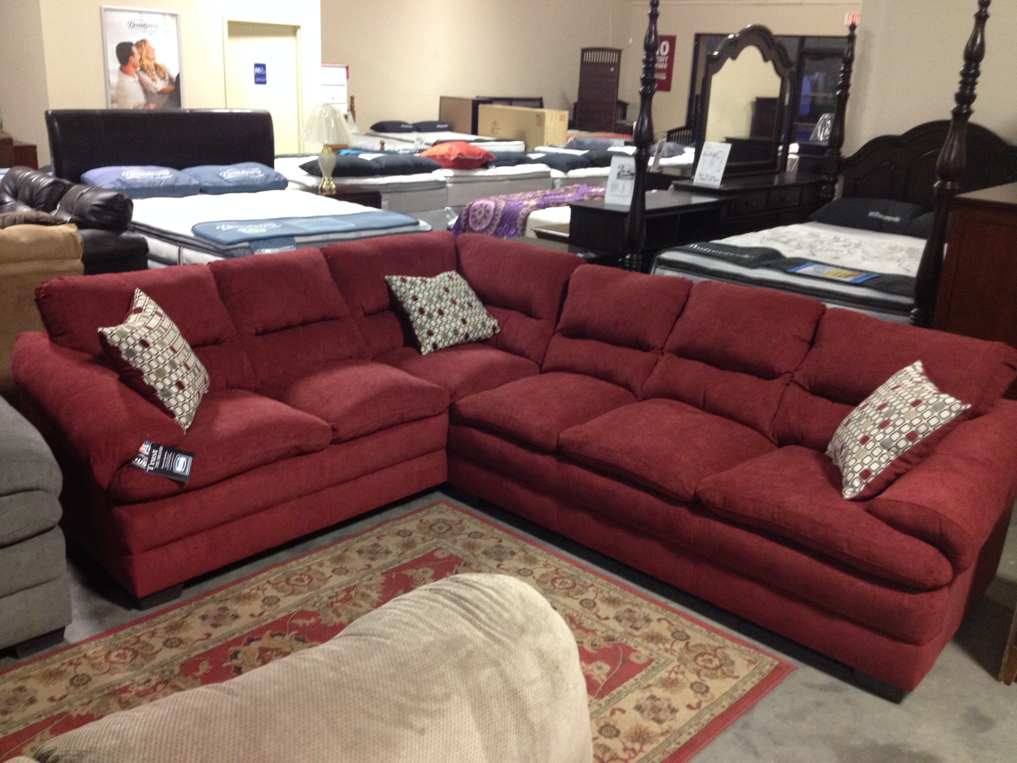 Swell Living Room Sectional Liquidation Simmons Parker House Ocoug Best Dining Table And Chair Ideas Images Ocougorg