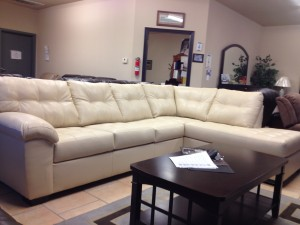 Natural Leather Sectional with Chaise - $1,099