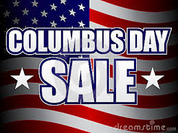 Columbus Day Sale